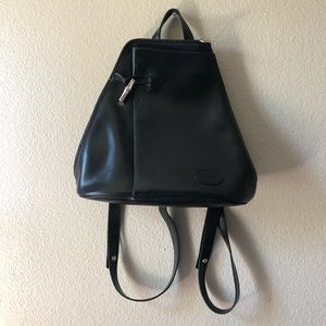 Authentic Vintage Longchamp Leather Backpack